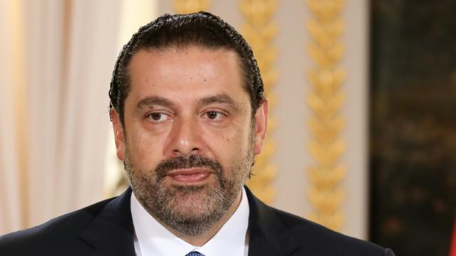 Saad Hariri lors d'une conférence de presse à Paris le 1er septembre 2017 [ludovic MARIN / AFP/Archives]