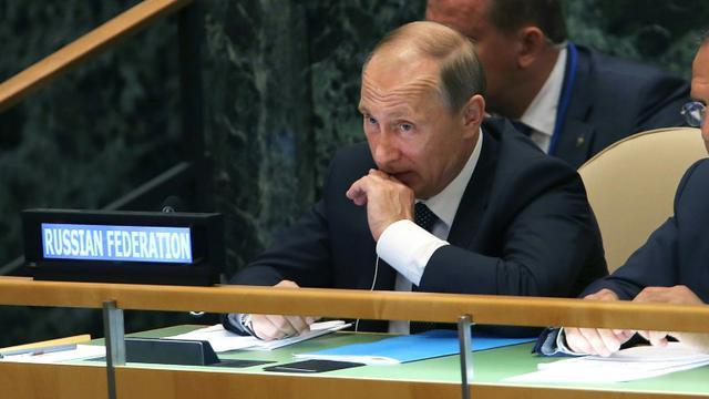 Vladimir Poutine le 28 septembre 2015 à l'Onu à New York [Spencer Platt / GETTY IMAGES NORTH AMERICA/AFP]