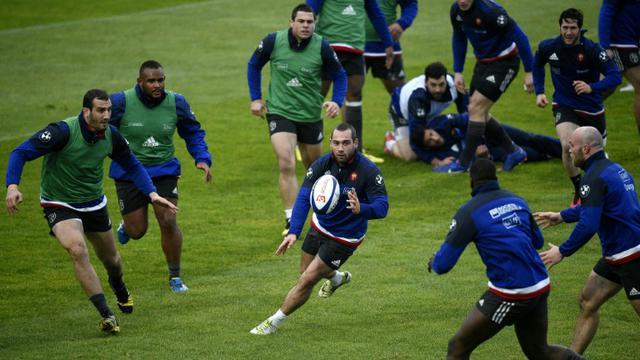 Le XV de France à l'entraînement au centre du rugby de Marcoussis, le 2 février 2016 [FRANCK FIFE / AFP]