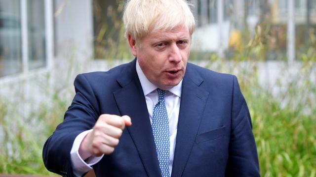 Le Premier ministre britannique Boris Johnson lors d'un déplacement à Birmingham le 26 juillet 2019 [TOBY MELVILLE / POOL/AFP]