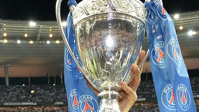 Le trophée de la Coupe de France remporté par le PSG devant Guingamp, le 30 mai 2015 au Stade de France, à Saint-Denis [FRANCK FIFE / AFP/Archives]