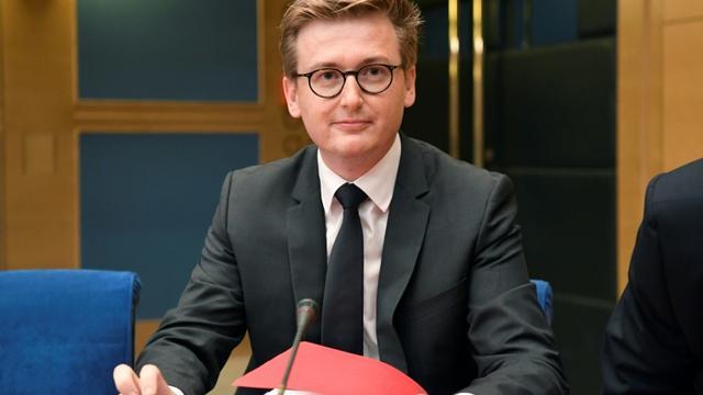 François-Xavier Lauch, chef de cabinet d'Emmanuel Macron, devant la commission d'enquête du Sénat, le 12 septembre 2018 [Bertrand GUAY / AFP/Archives]