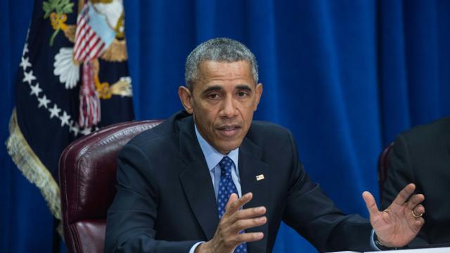 Le président des Etats-Unis Barack Obama au ministère de l'Agriculture à Washington, le 6 octobre 2015 [Nicholas KAMM / AFP/Archives]