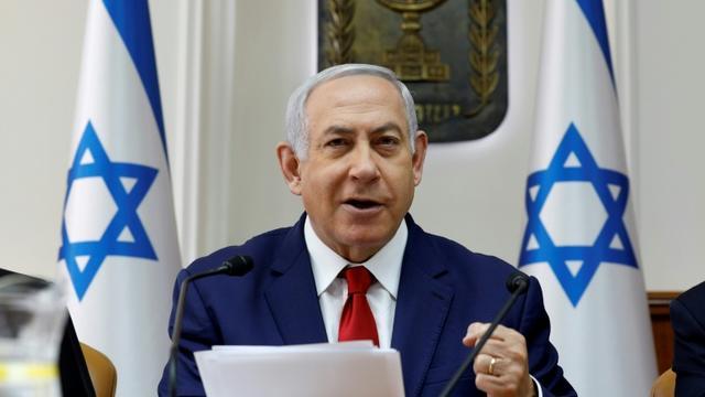 Le Premier ministre israélien Benjamin Netanyahu au conseil des ministres le 6 janvier 2019 [GALI TIBBON / AFP]