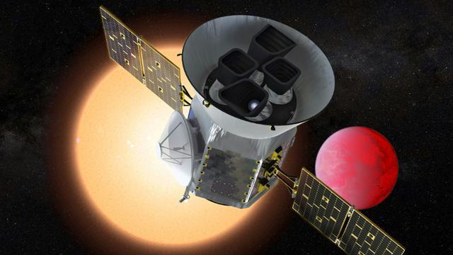 Illustration, remise par la Nasa le 25 mars 2018,  du nouveau télescope TESS dont la mission sera de chercher des exoplanètes susceptibles d'abriter la vie [Handout / NASA/GSFC/AFP/Archives]