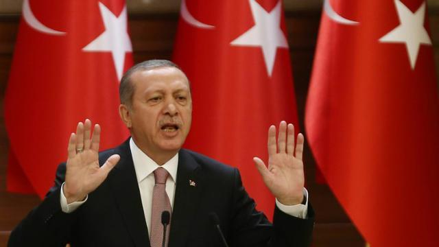 Le président turc Erdogan lors d'un discours le 26 novembre 2015 à Ankara [ADEM ALTAN / AFP/Archives]