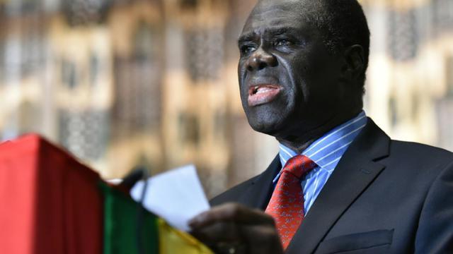 Le dirigeant par interim du Burkina Michel Kafando le 23 septembre 2015 à Ouagadougou [KAMBOU SIA / AFP]