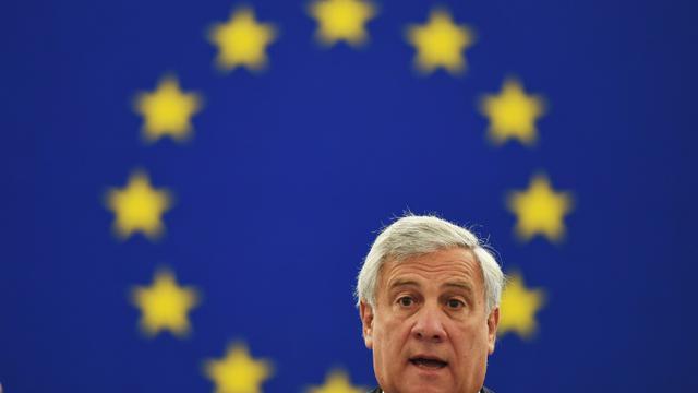 Le président du Parlement européen Antonio Tajani lors du discours sur l'état de l'Union le 12 septembre 2018 à Strasbourg. [FREDERICK FLORIN / AFP]
