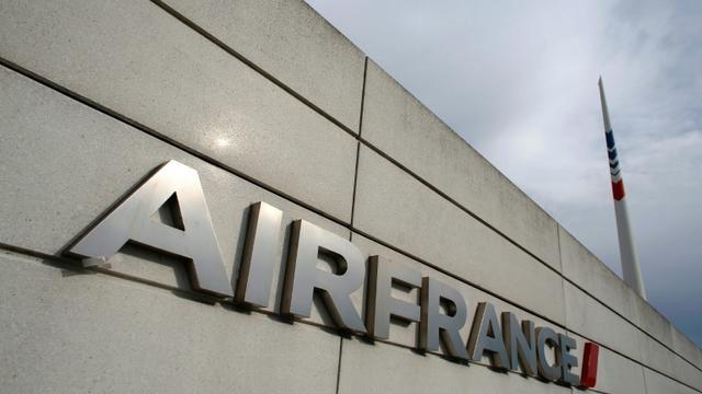 Logo d'Air France, le 12 octobre 2015, à Roissy [Thomas Samson / AFP/Archives]