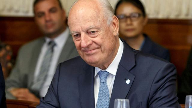 L'émissaire de l'ONU Staffan de Mistura à Genève le 11 septembre 2018 [SALVATORE DI NOLFI / POOL/AFP/Archives]