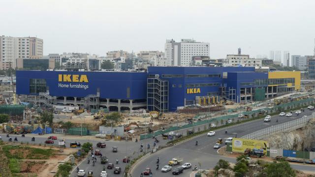 Le magasin Ikea à Hyderabad, le 22 juin 2018 [NOAH SEELAM / AFP]