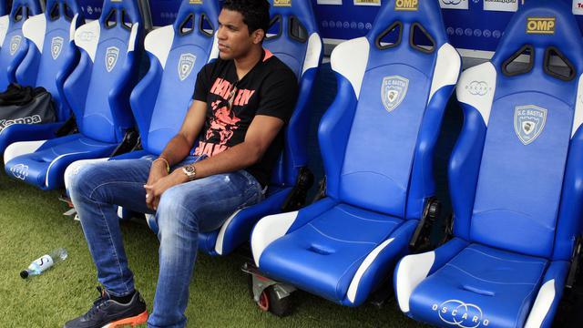 Brandao dans le stade Armand Cesari de Bastia le 2 août 2014 [Pascal Pochard Casabianca / AFP]