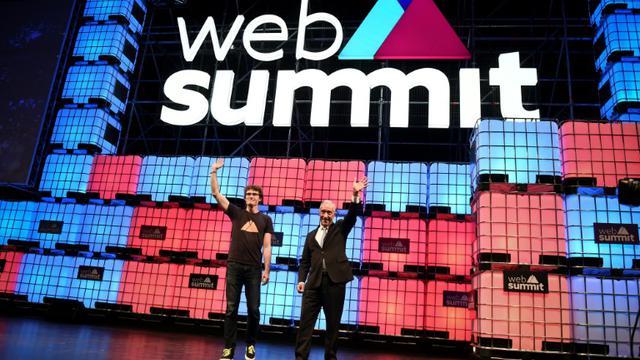 Le fondateur du Web Summit Paddy Cosgrave lors de l'édition 2017 à Lisbonne le 9 novembre 2017 [PATRICIA DE MELO MOREIRA / AFP/Archives]