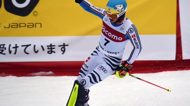 L'Allemand Felix Neureuther termine le slalom de Yuzawa-Naeba au Japon, le 14 février 2016  [TOSHIFUMI KITAMURA / AFP]