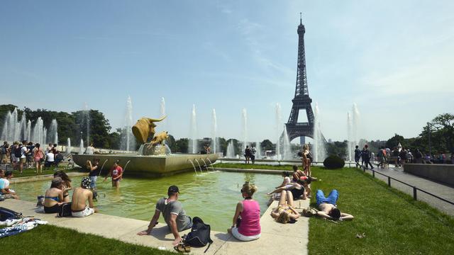La fontaine du Trocadéro face à la Tour Eiffel à Paris, le 18 juillet 2014 [Miguel Medina / AFP/Archives]