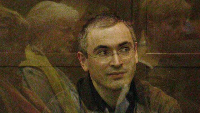 Mikhail Khodorkovski lors de son procès le 22 septembre 2005 à Moscou [TATYANA MAKEYEVA / AFP]