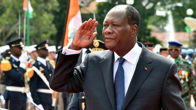 Le président ivoirien Alassane Ouattara, lors d'une cérémonie marquant le 55e anniversaire de l'Indépendance, à Abidjan le 7 août 2015 [ISSOUF SANOGO / AFP/Archives]