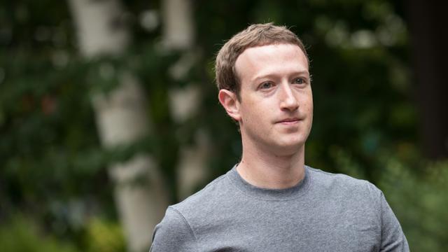 Le patron de Facebook Mark Zuckerberg, le 14 juillet 2017 à Sun Valley (Idaho) aux États-Unis [Drew Angerer / GETTY IMAGES NORTH AMERICA/AFP/Archives]