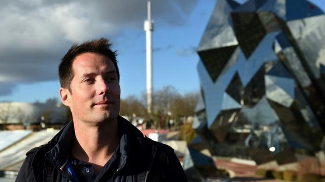 L'astronaute français Thomas Pesquet, le 25 novembre 2017 à Chasseneuil-du-Poitou dans la Vienne [GUILLAUME SOUVANT / AFP]