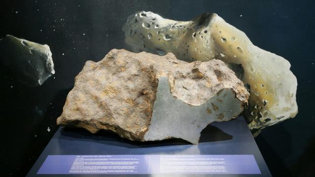 La météorite du Mont-Dieu exposée à l'Institut royal des Sciences naturelles de Bruxelles en février 2007 [JOHN THYS / AFP/Archives]