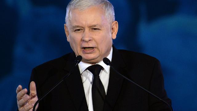 Jaroslaw Kaczynski à la tête du parti conservateur Droit et Justice, le 22 octobre 2015 à Varsovie [JANEK SKARZYNSKI / AFP/Archives]