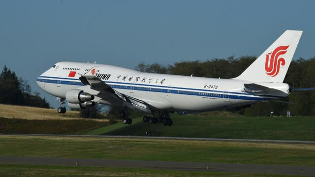 Un Boeing d'Air China à Washington le 22 septembre 2015 [Mark Ralston / AFP/Archives]