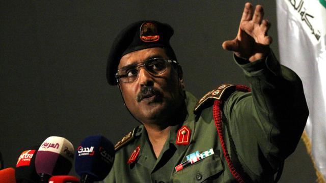 Le général Ahmed al-Mesmari, porte-parole de l'Armée nationale libyenne (ANL), à Benghazi, le 21 juin 2018 [Abdullah DOMA / AFP]
