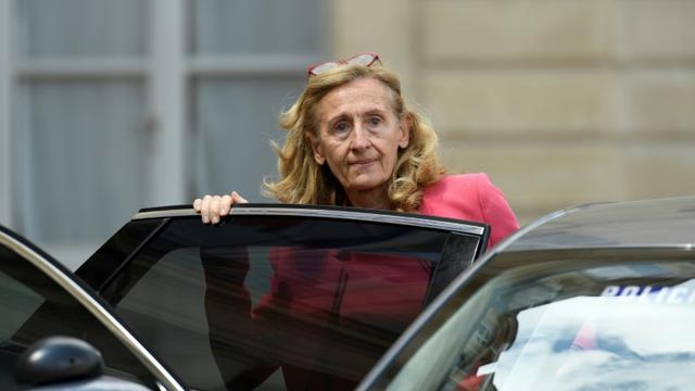 Nicole Belloubet le 18 juillet à la sortie de l'Elysée [Bertrand GUAY / AFP/Archives]