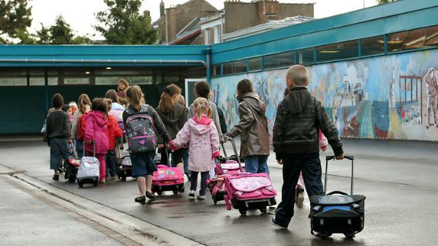 Rentrée scolaire le 5 septembre 2011 dans une école primaire à Lille [Philippe Huguen / AFP/Archives]