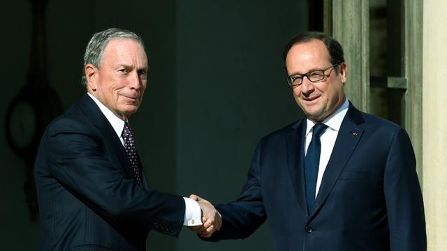 Michael Bloomberg reçu à l'Elysée par François Hollande le 30 juin 2015 à Paris  [ALAIN JOCARD / AFP/Archives]
