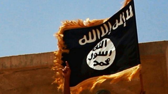 Le drapeau du groupe Etat islamique [- / WELAYAT SALAHUDDIN/AFP/Archives]