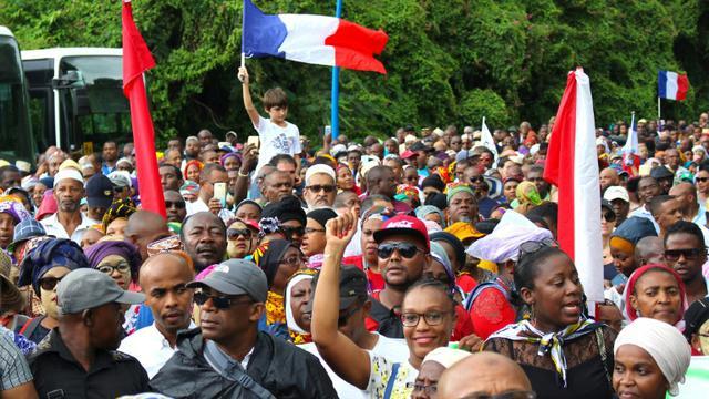 Manifestation contre l'insécurité et le manque de développememnt de l'île, le 7 mars 2018 à Mayotte [Ornella LAMBERTI / AFP/Archives]