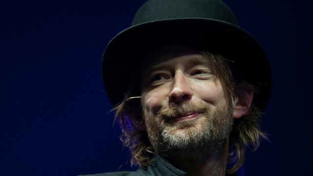 Le chanteur de Radiohead, Thom Yorke, en concert près de Ledbury, dans le sud de l'Angleterre, le 7 décembre 2015 [LEON NEAL / AFP/Archives]