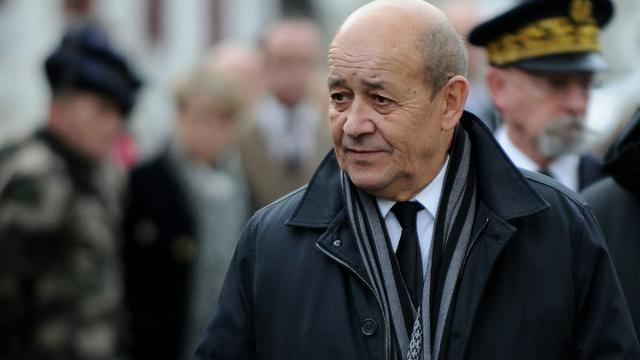 Le ministre français de la Défense Jean-Yves Le Drian le 19 janvier 2016 à Modane  [JEAN PIERRE CLATOT / AFP]