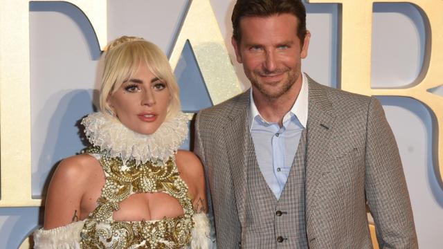 Lady Gaga et Bradley Cooper le 27 septembre 2018 à Londres  [Anthony HARVEY / AFP/Archives]