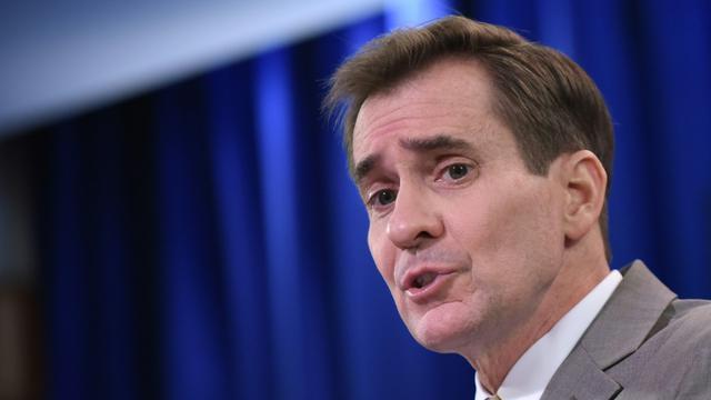 Le porte-parole du département d'Etat américain John Kirby le 6 janvier 2015 à Washington [MANDEL NGAN / AFP/Archives]