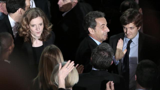 Nathalie Kosciusko-Morizet et Nicolas Sarozy le 10 février 2014 au gymnase Japy à Paris [Demarthon / AFP/Archives]