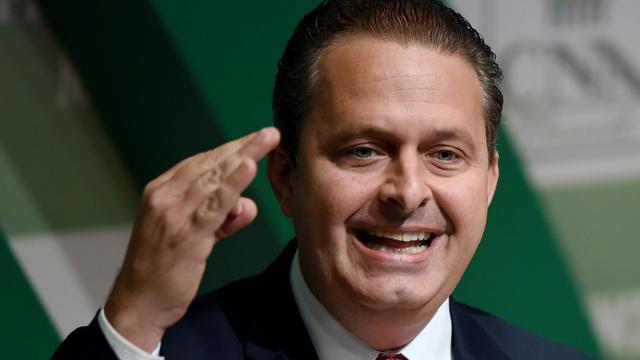Eduardo Campos, le candidat socialiste à la présidentielle d'octobre au Brésil au siège de la Confédération agricole à Brasilia, le 6 août 2014 [Evaristo Sa / AFP/Archives]