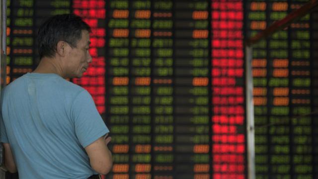 Le tableau des changes le 1er septembre 2015 à Shangai [JOHANNES EISELE / AFP]