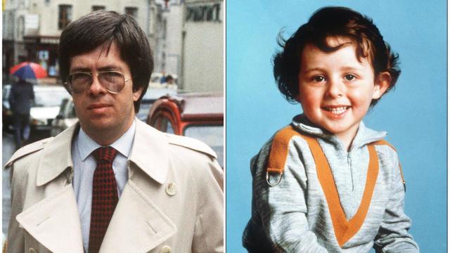 Le juge Jean-Michel Lambert, chargé d'enquêter sur le cas du petit Grégory Villemin (à gauche), 4 ans, retrouvé noyé le 16 octobre 1984 dans la Vologne, le 22 juin 1985 à Epinal.