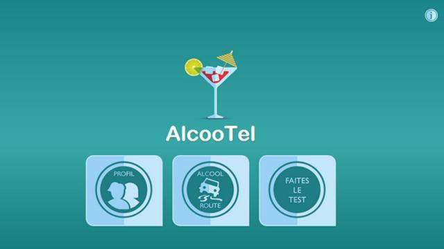 Une interface simple d'utilisation pour estimer son taux d'alcool présent dans le sang.