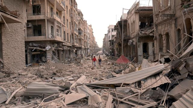 Sur les lieux d'une des explosions, selon l'agence officielle SANA.