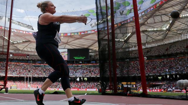 Alexandra Tavernier a décroché la médaille de bronze au lancer du marteau.