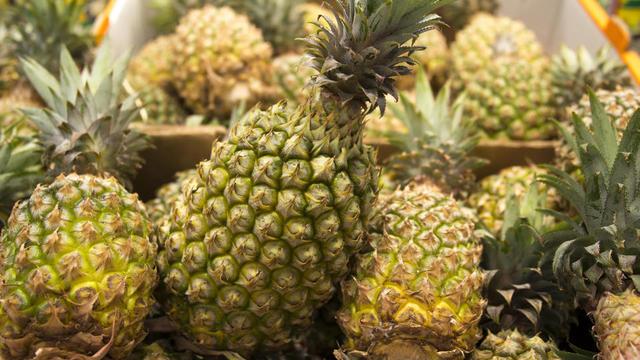 La cargaison d'ananas, en provenance du Costa Rica, avait été débarquée au Portugal, puis transportée par voie terrestre jusqu'à Madrid.