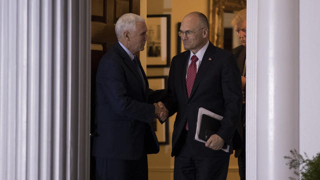 Andrew Puzder et Mike Pence