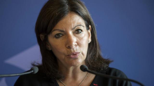 Anne Hidalgo, la maire de Paris, a présenté ses voeux aux élus parisiens, jeudi 10 janvier, à l'Hôtel de ville.