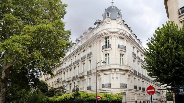 L'appartement de Jeffrey Epstein, avenue Foch à Paris.