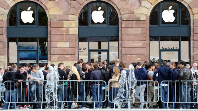 Un Apple Store à Strasbourg.