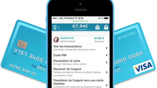 L'appli fonctionne de pair avec une carte de paiement Visa Internationale.
