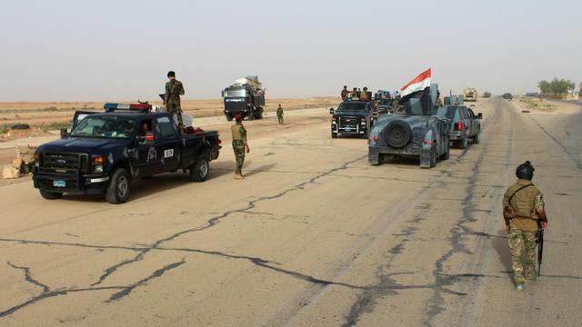 L'armée irakienne dans une zone de la province d'Al Anbar récemment reprise à Daesh.